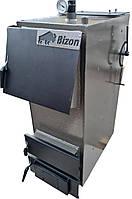 Твердотопливный котел Bizon F-32, 32 кВт, длительного горения, шахтного типа, передняя загрузка