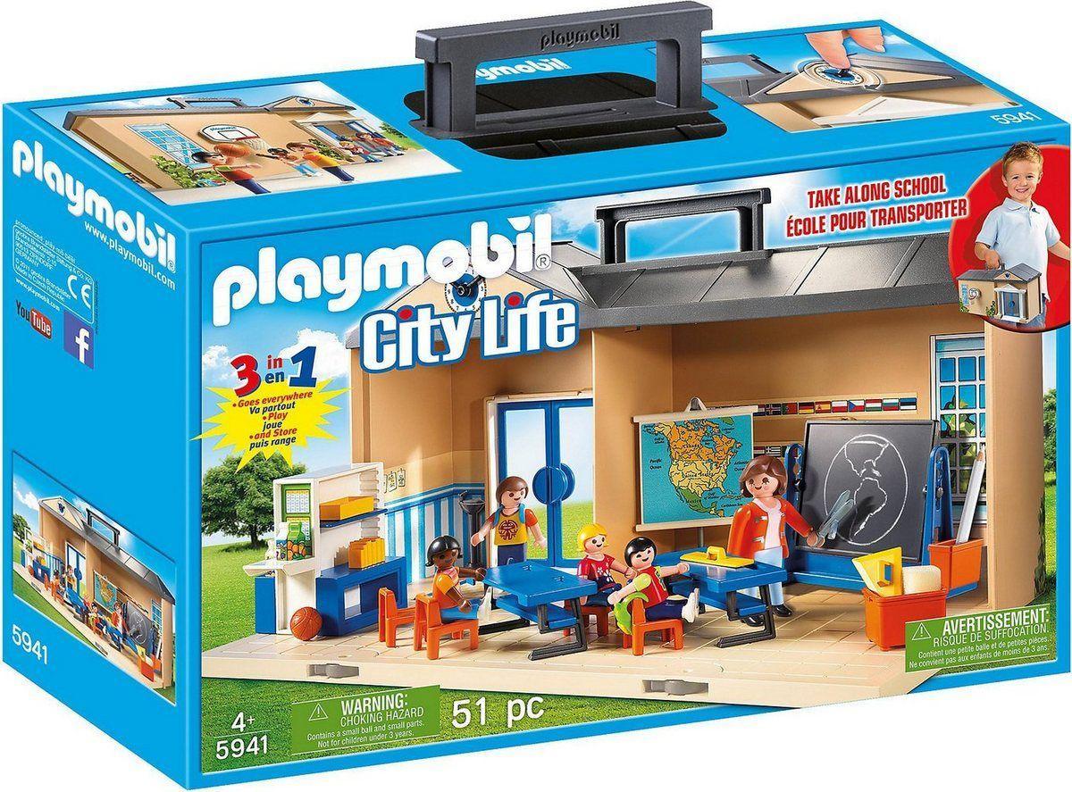 Playmobil 5941 Конструктор Переносная школа 3 в 1 Take Along School Play Set