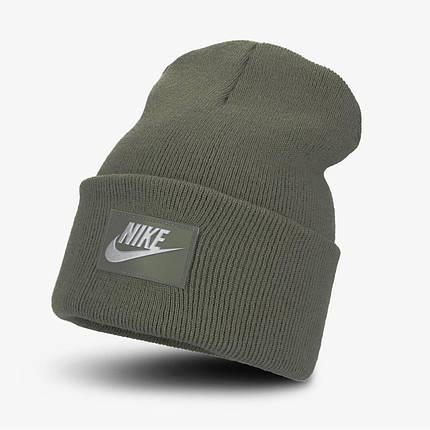 Шапка Nike NSW Cuffed Futura Beanie DA2021-380 Оливковый, фото 2