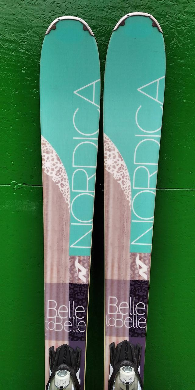 Гірські лижі бу Nordica belle to belle 161 см універсал 2016p