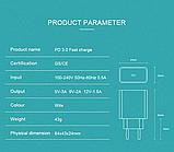 Быстрое зарядное устройство VOXLINK USB Type-C PD 3.0 QC3.0 18 Вт Модель HMCG0006, фото 4