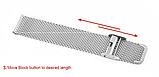 Металлический браслет для фитнес трекера Xiaomi mi band 4 / 3 тип №2 Цвет Чёрный, фото 4