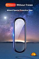 Защитная пленка для фитнес браслета Xiaomi Mi Band 5 с рамкой, фото 5