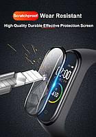 Защитная пленка для фитнес браслета Xiaomi Mi Band 5 с рамкой, фото 6