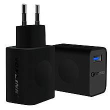 Быстрое зарядное устройство VOXLINK USB QC3.0 18 Вт Модель CEHC0382 Цвет Чёрный