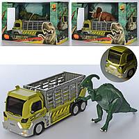 Трейлер 624001-01-02-06 (12шт) 22см, динозавр21см, звук, свет, 3вида, бат-таб, в кор-ке, 31-20-13см