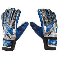 Вратарские перчатки Latex Foam MITRE, синий, размеры 6, 7, 8, 9.