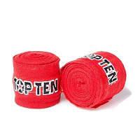 Бинт боксерский 3м, TopTen, пара, синий, красный, черный.