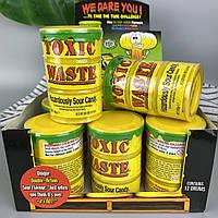 Самые кислые леденцы Токсик Вейст в Жёлтой бочке Toxic Waste Yellow Tubs 42 г