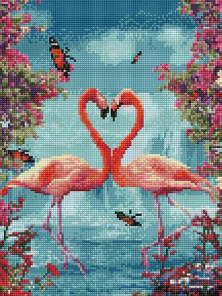 Алмазная вышивка (мозаика) 30x40 см Фламинго Rainbow Art, фото 2