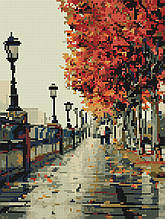 Алмазная вышивка (мозаика) 30x40 см Осенний бульвар Rainbow Art