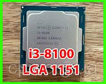 Процессор Intel Core i3-8100 4 ядра 3.60Ghz / 6M / 8GT/s Coffee Lake LGA1151