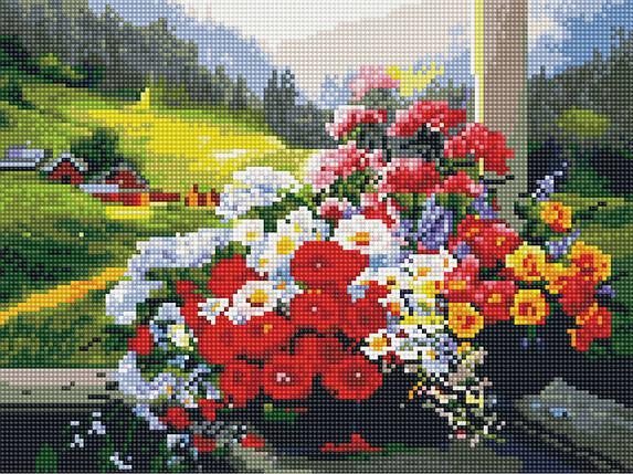 Алмазная вышивка (мозаика) 30x40 см Горный букет Rainbow Art, фото 2