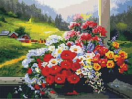 Алмазная вышивка (мозаика) 30x40 см Горный букет Rainbow Art