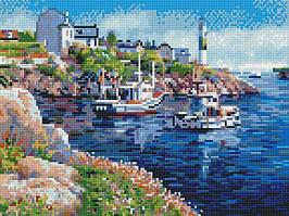 Алмазная вышивка (мозаика) 30x40 см Городская гавань Rainbow Art