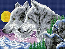 Алмазная вышивка (мозаика) 30x40 см Волки Rainbow Art