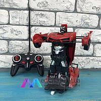 Детская игрушка робот Трансформер Lamborghini машина игрушечная на радиоуправлении на пульте красная