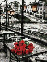 Алмазная вышивка (мозаика) 30x40 см Розы под дождем Rainbow Art