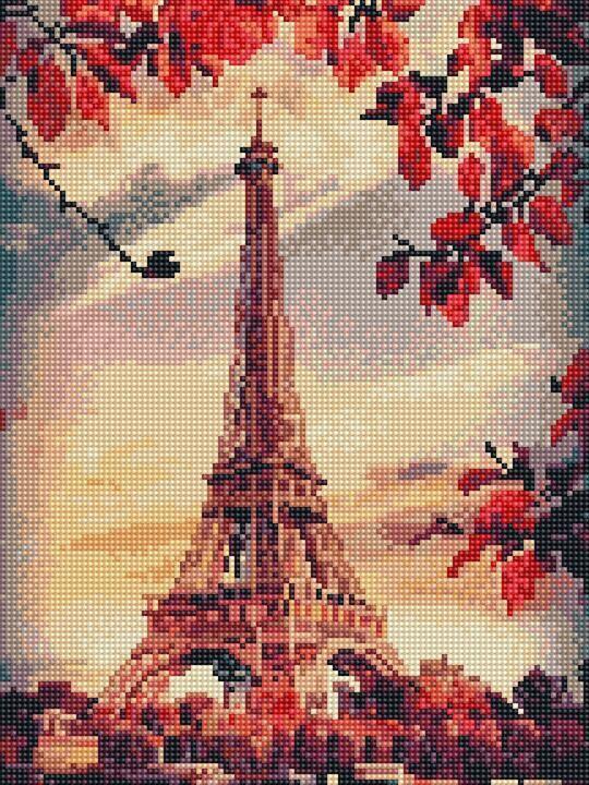 Алмазная вышивка (мозаика) 30x40 см Осень в Париже Rainbow Art