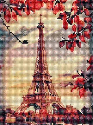 Алмазная вышивка (мозаика) 30x40 см Осень в Париже Rainbow Art, фото 2