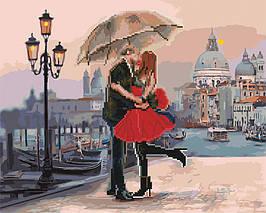 Алмазная картина раскраска Свидание в Венеции 40*50 см. Rainbow Art