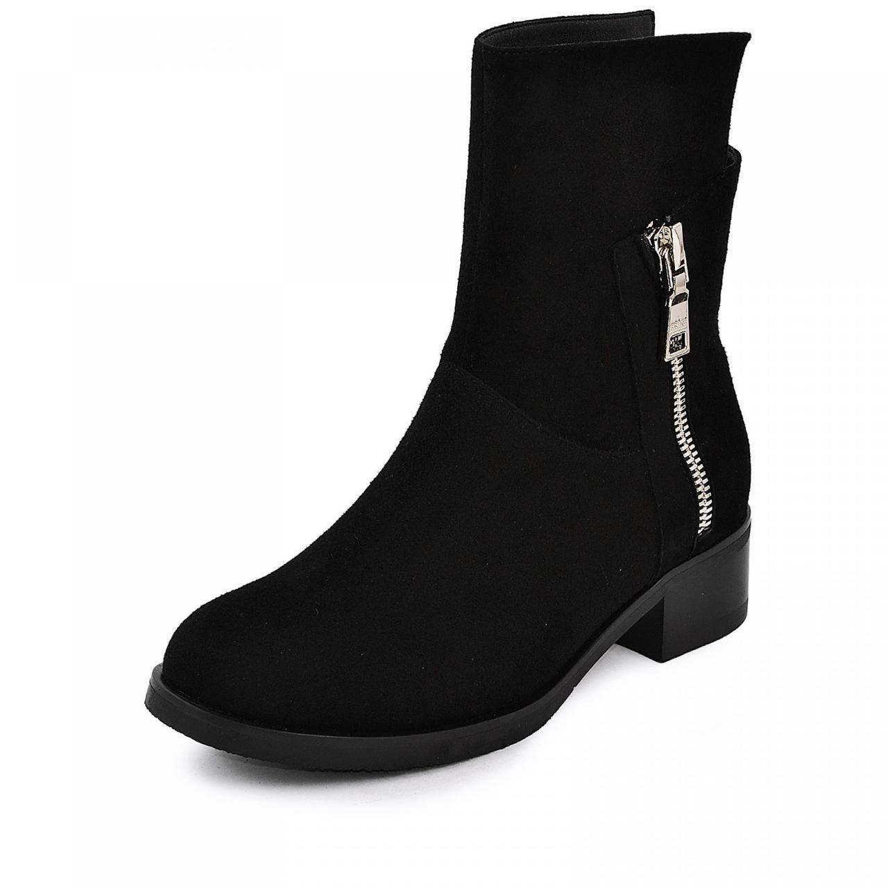 Ботинок  Моник  черный  велюр