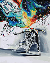 Алмазная картина раскраска Экспрессия 40*50 см. Rainbow Art