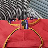 Женский рюкзак-сумка канкен красный радужный Fjallraven Kanken classic 16 с радужными ручками, фото 5