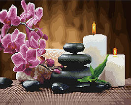 Алмазна картина-розмальовка Релакс і медитація 40x50 см. Rainbow Art