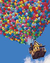 Алмазна картина-розмальовка Політ на повітряних кулях 40x50 см. Rainbow Art