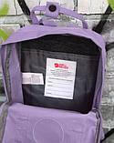 Модный женский рюкзак канкен Fjallraven Kanken classic сиреневый (светло-фиолетовый) 16 литров, фото 10