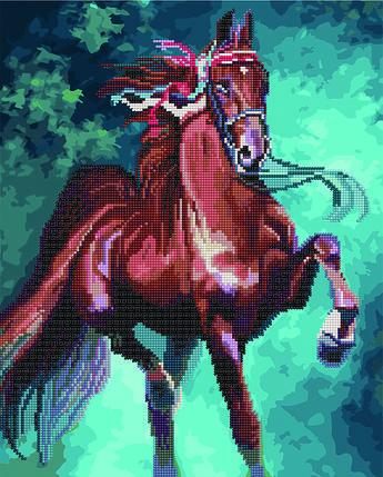 Алмазная картина раскраска Лошадь 40*50 см. Rainbow Art, фото 2