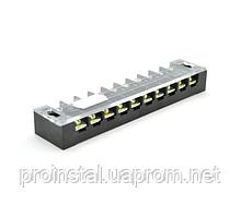 Клеммная колодка 10-разрядная TB-2510 25A - 600V, сечение провода 0,5-2,5мм2, 25 шт в упаковке, цена за штуку