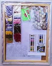 Алмазная картина раскраска Букет маков на окне 40*50 см. Rainbow Art, фото 3