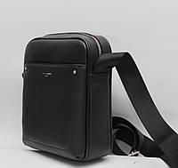 Стильная мужская кожаная (кожа искусственная) сумка David Jones / Дэвид Джонс