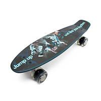 Скейт пенни борд 13780 темно синий, фото 1