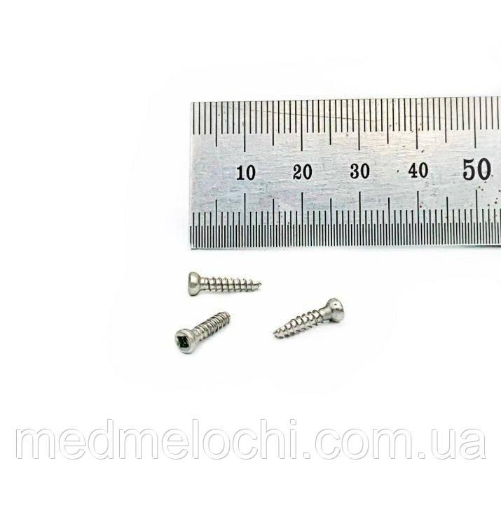 Мікрогвинт D = 2,7 мм, 12 мм, сталь, квадрат