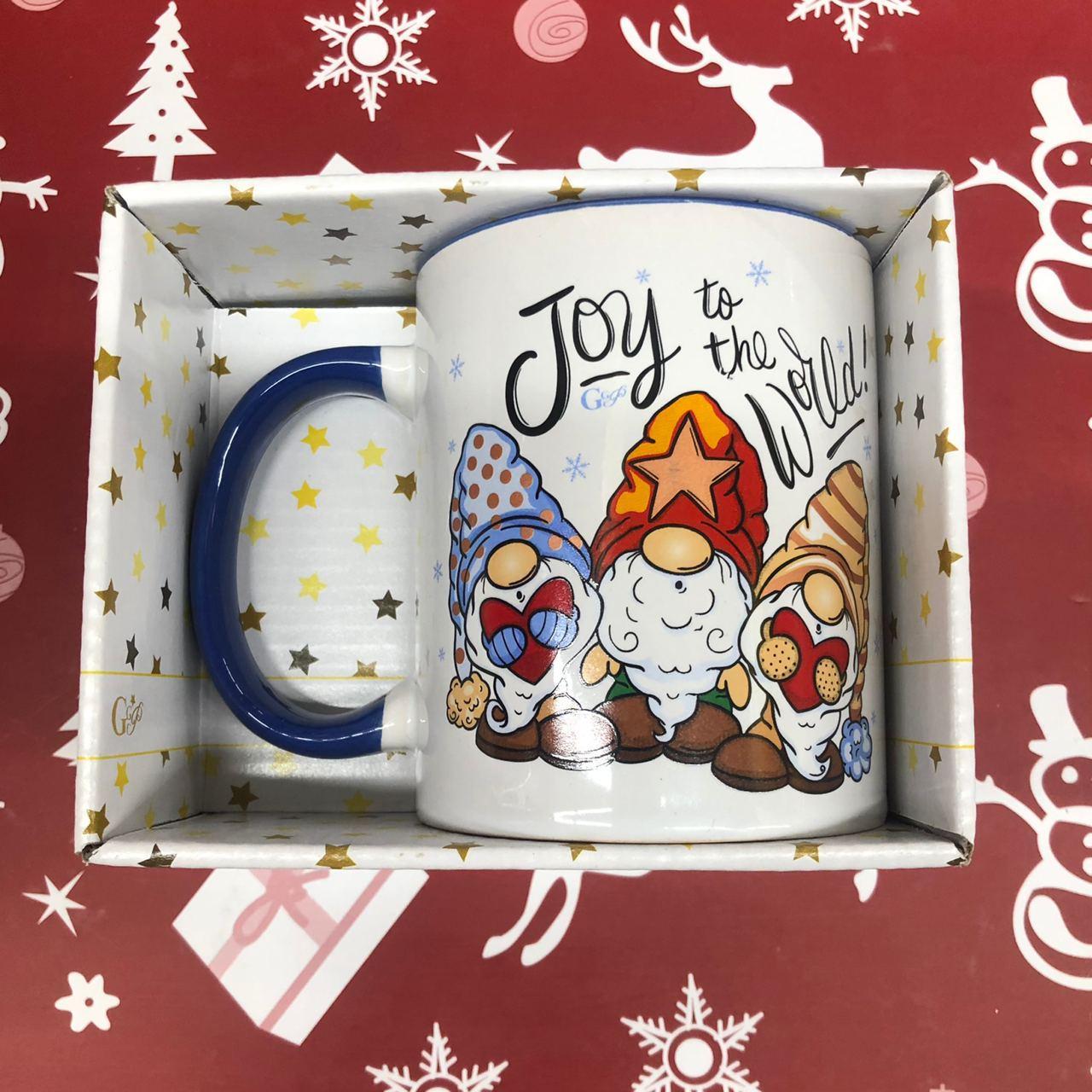 Чашка Кружка с принтом City-A 330 мл. Новый Год Рождественские Гномы