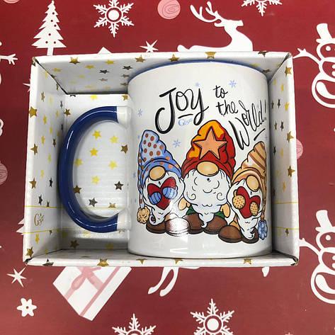 Чашка Кружка с принтом City-A 330 мл. Новый Год Рождественские Гномы, фото 2