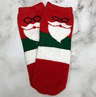 Шкарпетки Високі Новорічні Жіночі Чоловічі Наталі Махрові Новий Рік Дід Мороз Борода Червоні 37-41