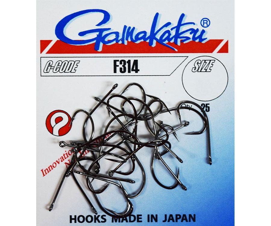 Крючок Gamakatsu F314 Black 006 10шт.