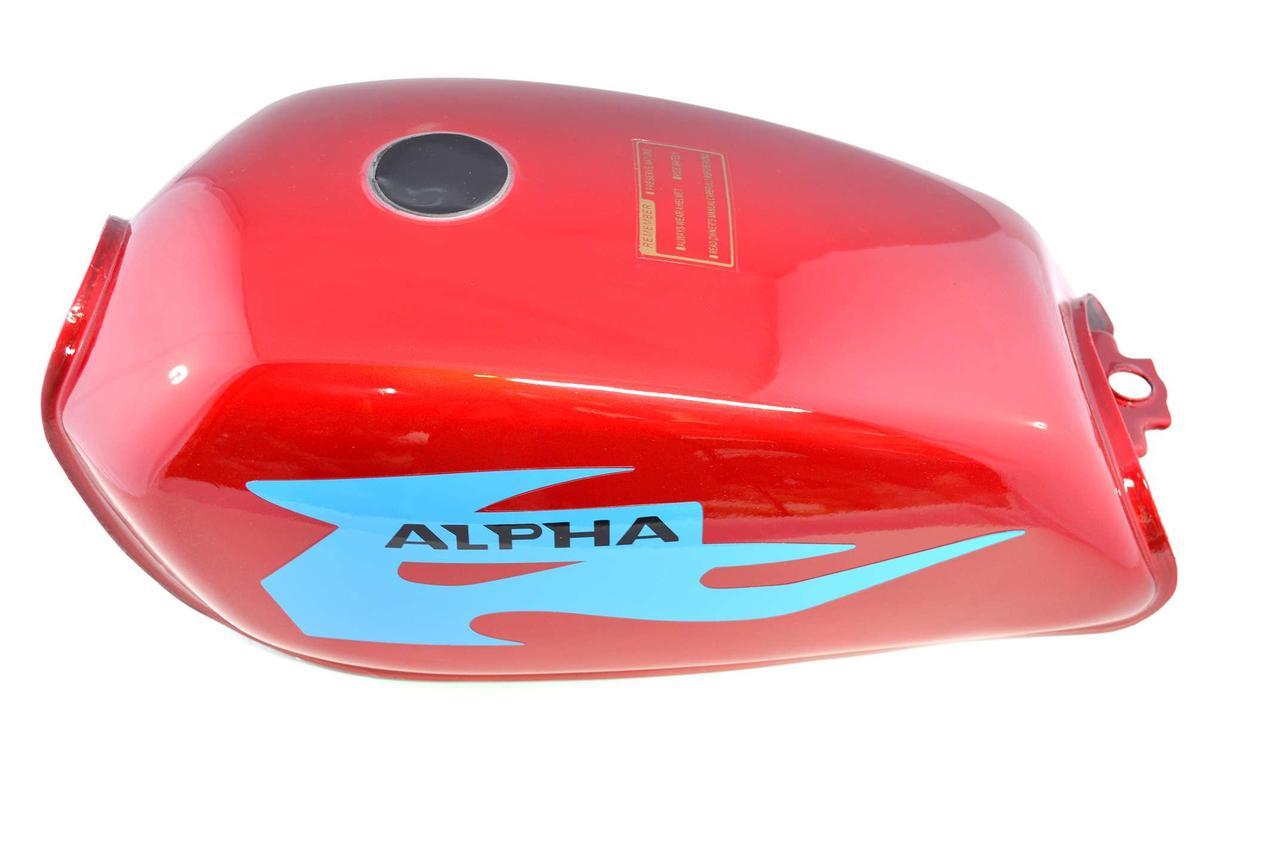 Бак топливный (Бензобак) на Мопед Альфа (Alphа) (красный) KOMATCU (mod.A)
