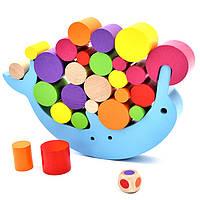 Деревянная игрушка Балансир «Дельфин», развивающие товары для детей.