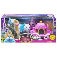 """Карета с лошадкой """"Волшебная карета"""", розовая, лошадки пони,детские игрушки,пони"""