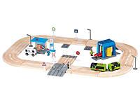 """Дерев'яна залізниця PlayTive Junior """"Автобан"""" 57 деталей Німеччина Ikea Lillabo, фото 1"""