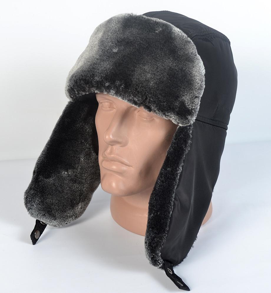 Чоловіча шапка- вушанка з штучного хутра мутона   продажа 7c6e24ae87bf1