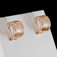 Фантастические серьги с кристаллами Swarovski, покрытые золотом 0654