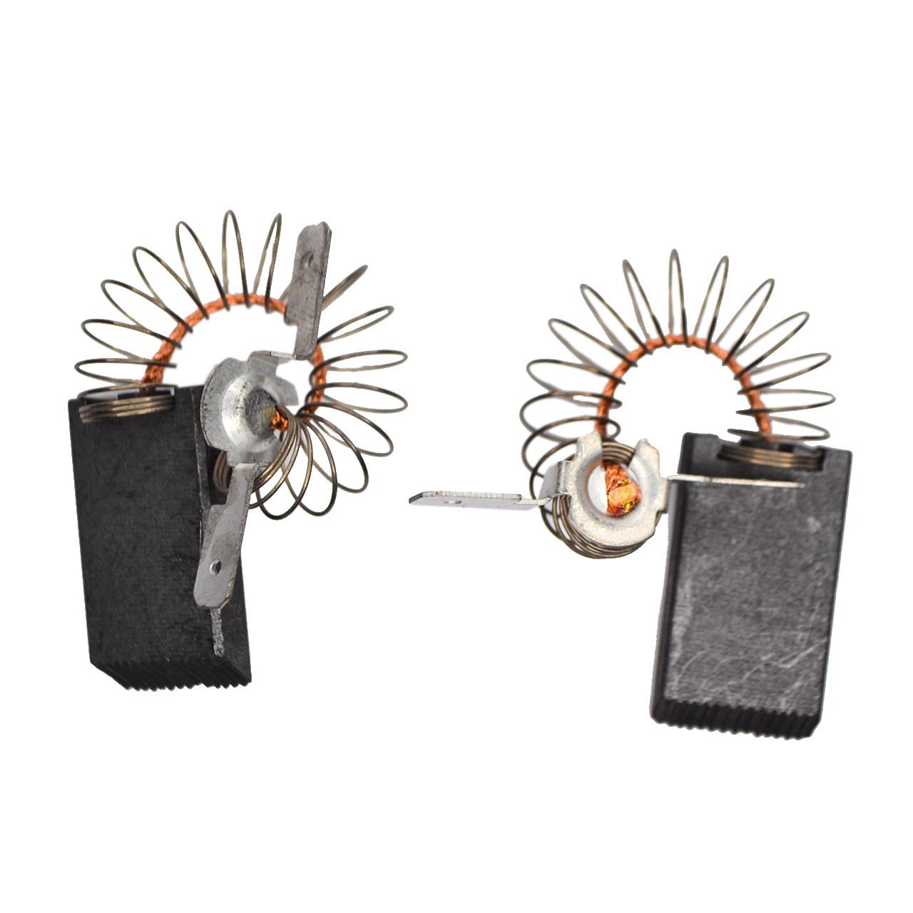 Щетка угольные 5*15*27 цельные, провод по центру с пружинкой