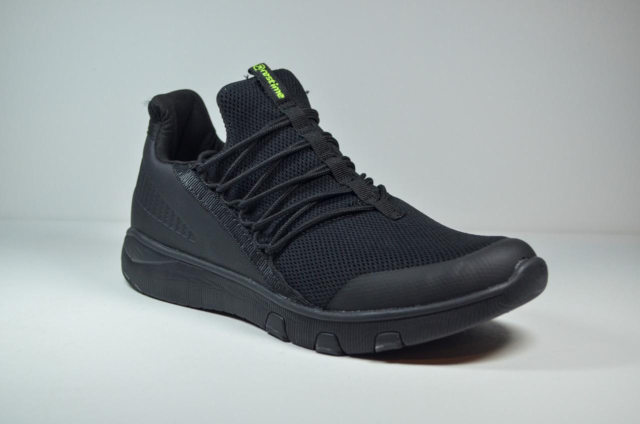 Чоловічі кросівки чорні Restime 20365