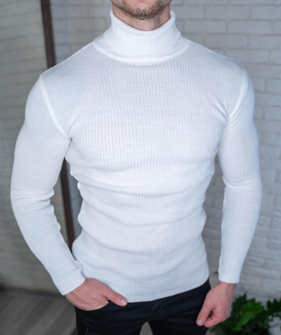 Мужской Гольф белый/ Турция Белый, XL